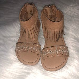 (Cat & jack) fringe tan sandals